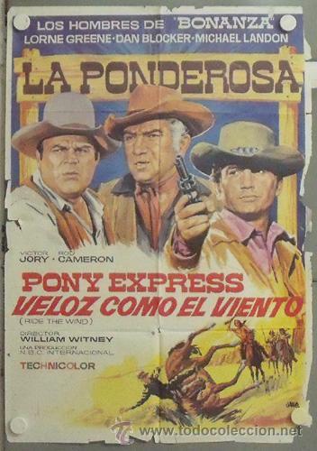 NP40 BONANZA LORNE GREENE MICHAEL LANDON DAN BLOCKER SERIE TV POSTER ORIGINAL 70X100 ESTRENO (Cine - Posters y Carteles - Series TV)