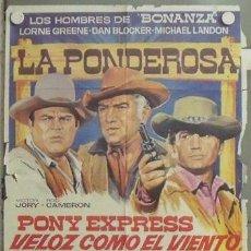 Cine: NP40 BONANZA LORNE GREENE MICHAEL LANDON DAN BLOCKER SERIE TV POSTER ORIGINAL 70X100 ESTRENO. Lote 24655848