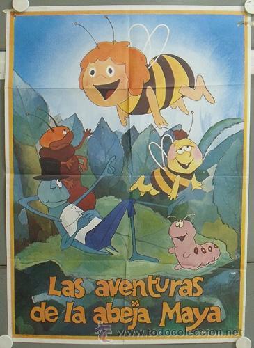 NR78 LA ABEJA MAYA SERIE ANIMACION TV POSTER ORIGINAL 56X80 ESTRENO (Cine - Posters y Carteles - Series TV)