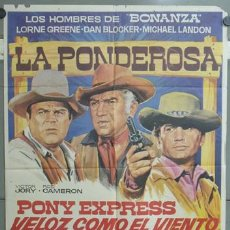 Cine: OF19 BONANZA LORNE GREENE MICHAEL LANDON DAN BLOCKER SERIE TV POSTER ORIGINAL 70X100 ESTRENO. Lote 27235926