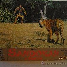 Cine: SANDOKAN - 1ª. PARTE - FOTOCROMO ORIGINAL GRAN TAMAÑO - 64,5 CM X 44,5 CM. Lote 30248319