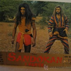Cine: SANDOKAN - 1ª. PARTE - FOTOCROMO ORIGINAL CARTON DURO - GRAN TAMAÑO - MEDIDAS : 64,5 CM X 44,5 CM.. Lote 30248636
