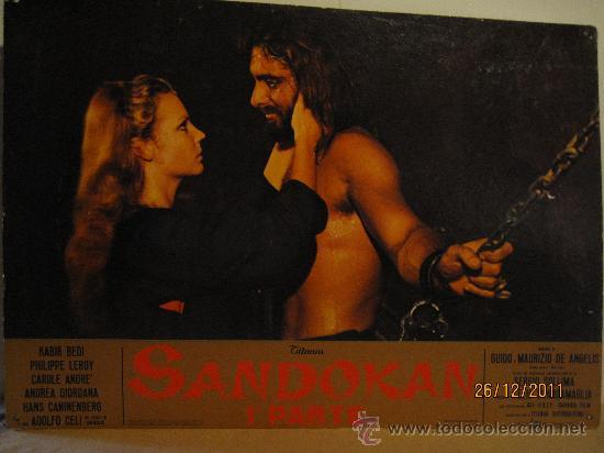 SANDOKAN - 1ª. PARTE - FOTOCROMO GRAN TAMAÑO. MEDIDAS : 64,5 CM X 44, 5 CM. (Cine - Posters y Carteles - Series TV)
