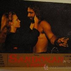 Cine: SANDOKAN - 1ª. PARTE - FOTOCROMO GRAN TAMAÑO. MEDIDAS : 64,5 CM X 44, 5 CM.. Lote 116729822