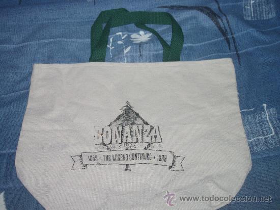 Cine: BONANZA. 2 BOLSAS ORIGINALES DEL RANCHO DE LA PONDEROSA Y DE LA CONVENCION DEL 40 ANIVERSARIO +2 REG - Foto 3 - 30863555