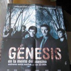 Cine: CARTEL DEL ESTRENO DE - GÉNESIS, EN LA MENTE DEL ASESINO - (SERIE ESPAÑOLA ESTRENADA EN CUATRO). Lote 46529355