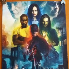Cine: F-181- MINI POSTER THE DEFENDERS MARVEL - DARE DEVIL, LUKE CAGE, IRON FIST, JESSICA JONES.. Lote 133339483