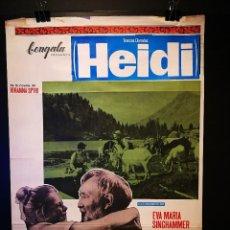 Cine: ORIGINAL POSTER CARTEL DE CINE TRENZAS DORADAS HEIDI 70 X 100. Lote 119175415