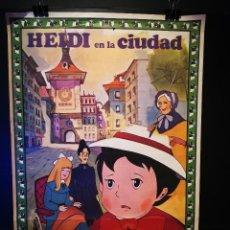 Cine: ORIGINAL POSTER CARTEL DE CINE HEIDI EN LA CIUDAD 70 X 100. Lote 119858703