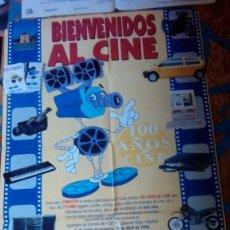 Cine: CARTEL POSTER DE CINE BIENVENIDOS AL CINE 1996 PUBLICIDAD 100 AÑOS DE CINE. Lote 136554178