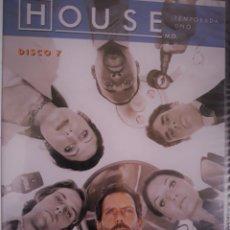 Cine: HOUSE. DVD. TEMPORADA UNO. DISCO 7. CAJA PLANA. NUEVO CON PRECINTO.. Lote 152446970