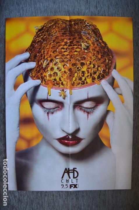 POSTER O CARTEL DOBLE #021 DE AMERICAN HORROR STORY: CULT Y LIGA DE LA JUSTICIA (Cine - Posters y Carteles - Series TV)