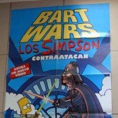 Cine: PÓSTER CARTEL GRAN FORMATO REVISTA TOP DISNEY. LOS SIMPSON CONTRAATACAN BART WARS AÑO 1999. Lote 177798783