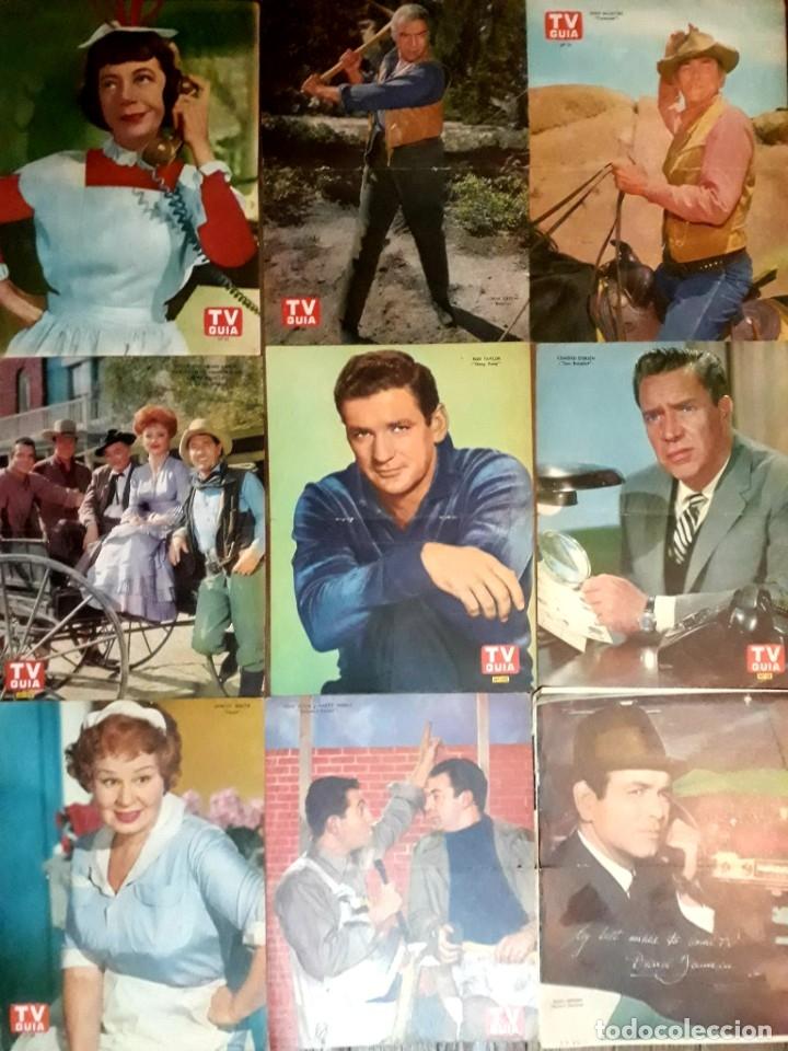Cine: Lote de 77 láminas actores series extranjeras revista TV Guía Argentina. Lassie Bonanza Combate etc - Foto 2 - 180043286