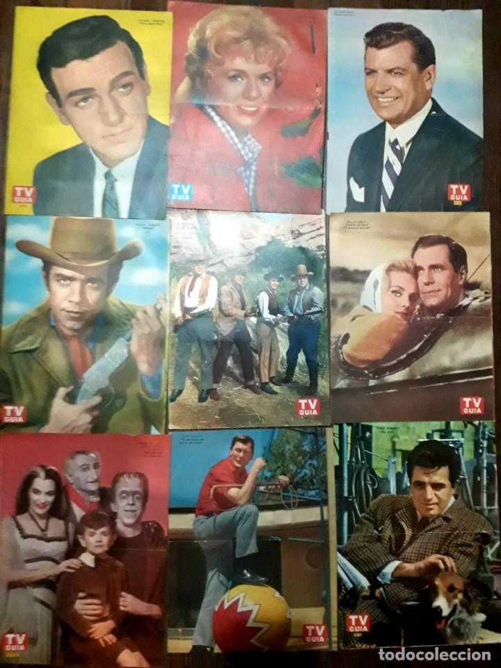 Cine: Lote de 77 láminas actores series extranjeras revista TV Guía Argentina. Lassie Bonanza Combate etc - Foto 3 - 180043286