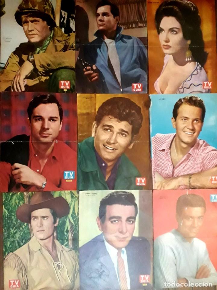 Cine: Lote de 77 láminas actores series extranjeras revista TV Guía Argentina. Lassie Bonanza Combate etc - Foto 5 - 180043286