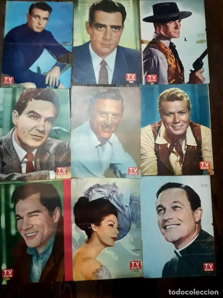 Cine: Lote de 77 láminas actores series extranjeras revista TV Guía Argentina. Lassie Bonanza Combate etc - Foto 6 - 180043286