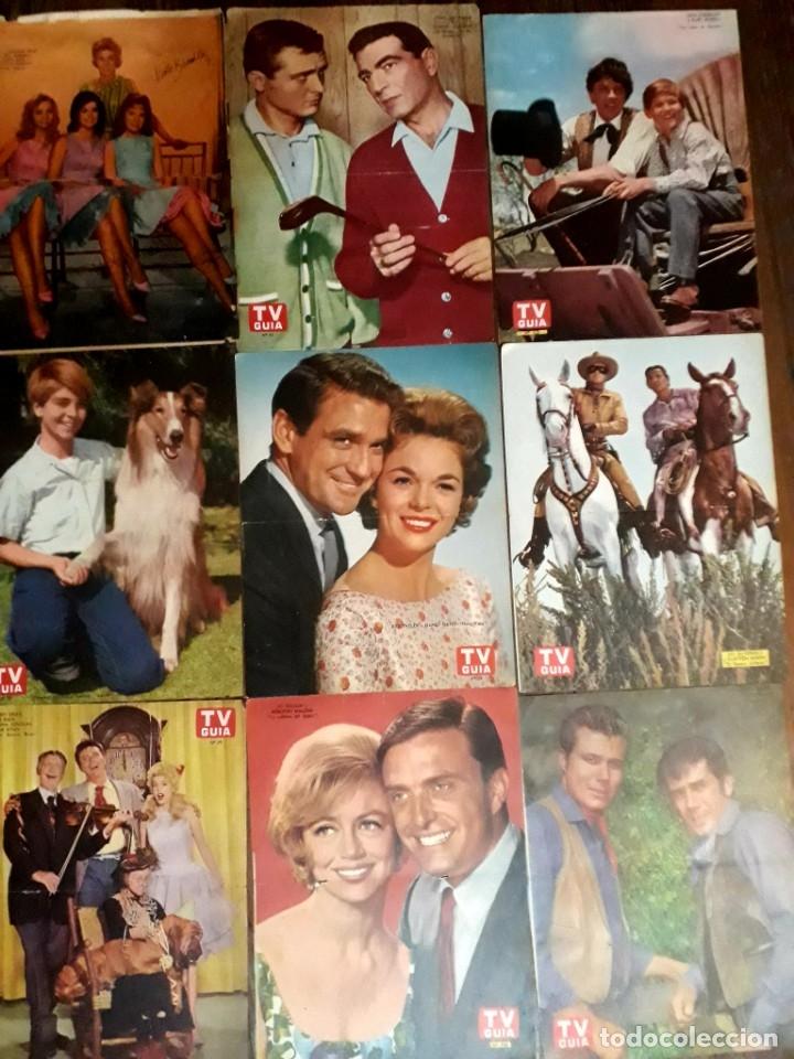 Cine: Lote de 77 láminas actores series extranjeras revista TV Guía Argentina. Lassie Bonanza Combate etc - Foto 7 - 180043286