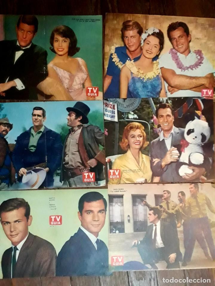 Cine: Lote de 77 láminas actores series extranjeras revista TV Guía Argentina. Lassie Bonanza Combate etc - Foto 8 - 180043286
