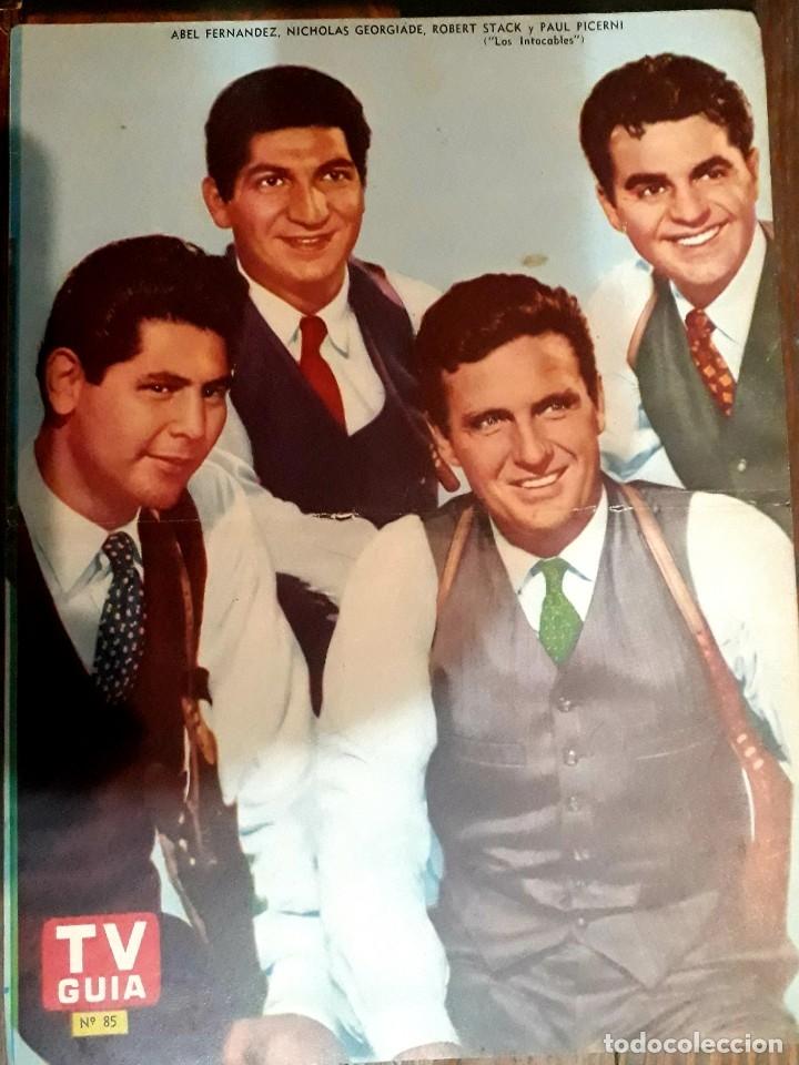 Cine: Lote de 77 láminas actores series extranjeras revista TV Guía Argentina. Lassie Bonanza Combate etc - Foto 11 - 180043286