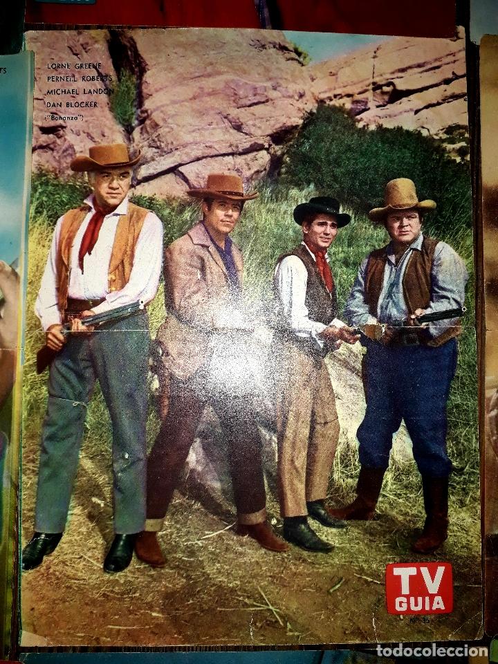 Cine: Lote de 77 láminas actores series extranjeras revista TV Guía Argentina. Lassie Bonanza Combate etc - Foto 16 - 180043286