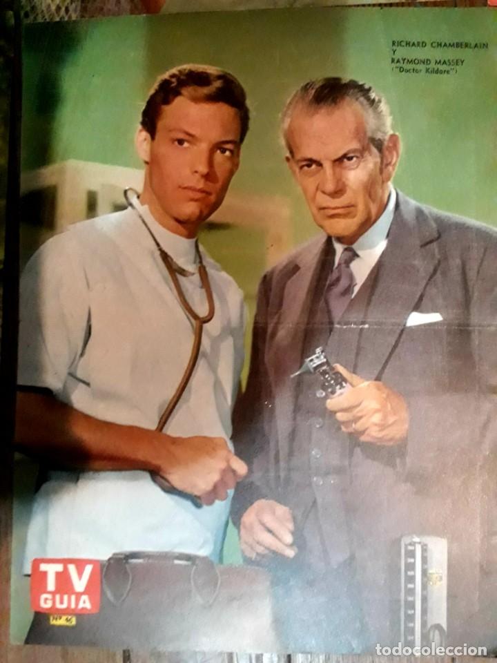 Cine: Lote de 77 láminas actores series extranjeras revista TV Guía Argentina. Lassie Bonanza Combate etc - Foto 17 - 180043286