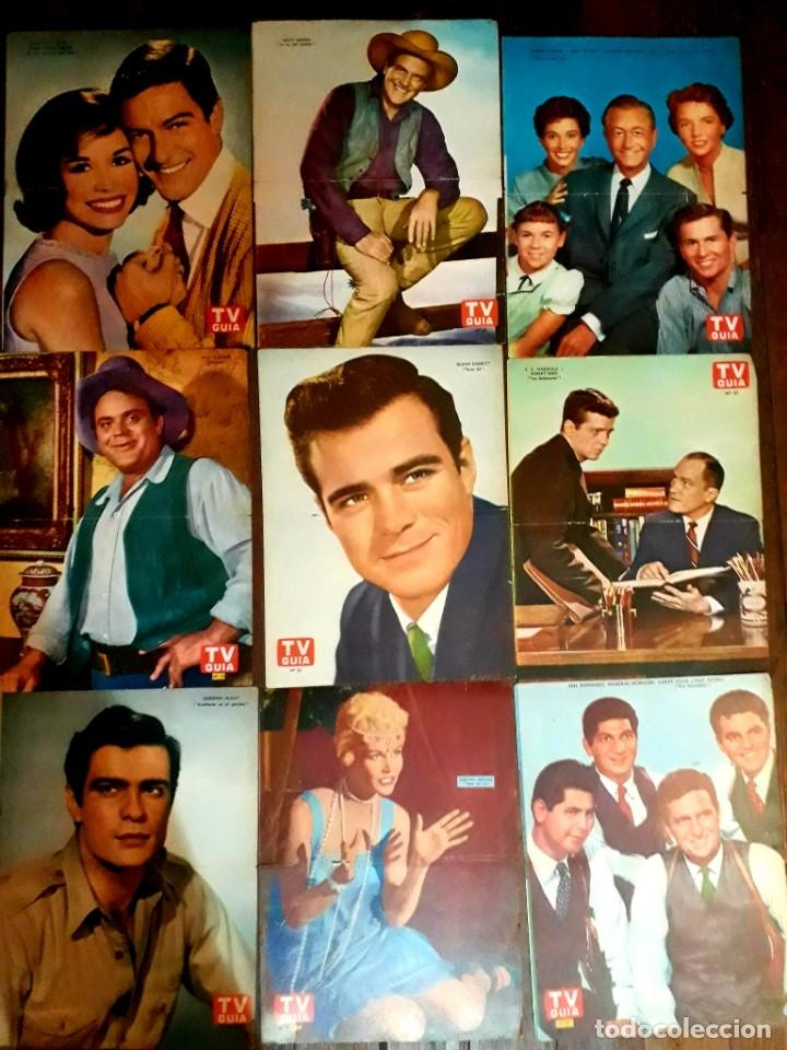 Cine: Lote de 77 láminas actores series extranjeras revista TV Guía Argentina. Lassie Bonanza Combate etc - Foto 23 - 180043286