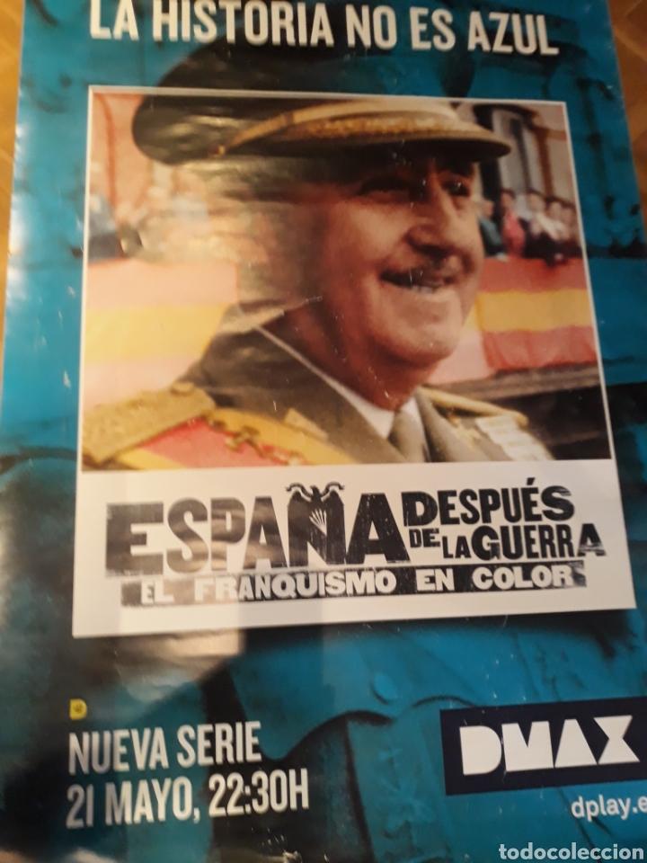 Cine: GiGANTESCO Cartel de FRANCO - ESPAÑA DESPUES DE LA GUERRA - DMAX - 1 , 77 METROS X 1 ,18 METROS . - Foto 2 - 183554457