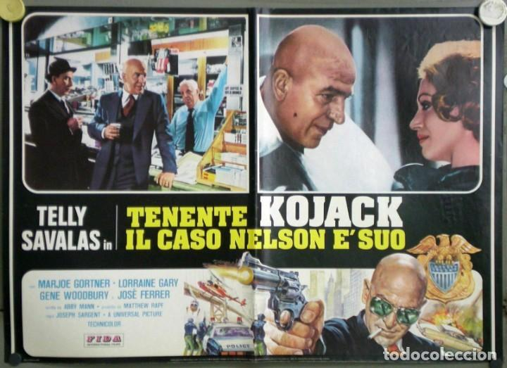 Cine: UD53D TENIENTE KOJAK TELLY SAVALAS SET 6 POSTERS ORIGINALES ITALIANOS 47X68 - Foto 4 - 183559885
