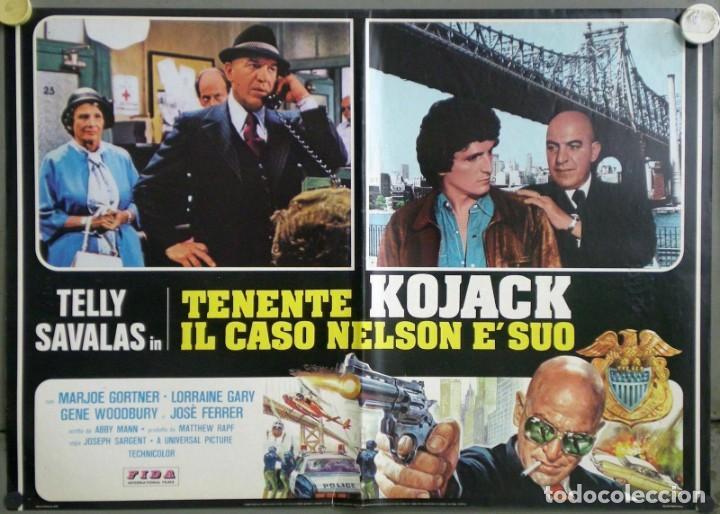 Cine: UD53D TENIENTE KOJAK TELLY SAVALAS SET 6 POSTERS ORIGINALES ITALIANOS 47X68 - Foto 6 - 183559885