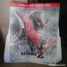 Cinéma: MAZINGER Z. INFINITY PHOTOCALL CARTEL ESTRENO. Lote 183976598