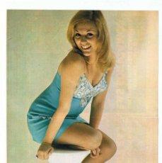 Cine: POSTER DE AURORA CLARAMUNT (PROGRAMA DE TV UN, DOS, TRES) REVISTA GARBO 1973. Lote 189361491