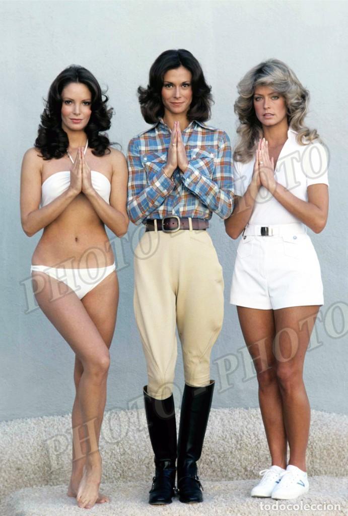 ANGELES CHARLIE KATE JACKSON FARRAH FAWCETT JACLYN SMITH CHARLIE´S ANGELS FOTO 20X26 CM (Cine - Posters y Carteles - Series TV)