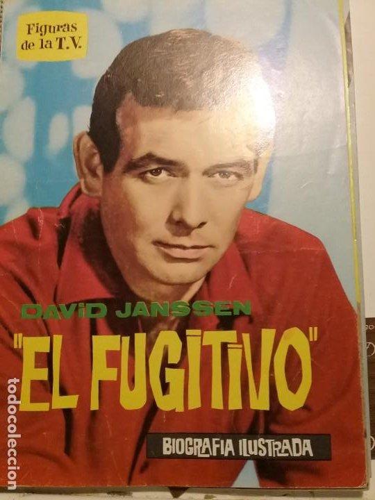 LIBRITO FIGURAS DE LA T.V. EL FUGITIVO BIOGRAFIA ILUSTRADA (Cine - Posters y Carteles - Series TV)