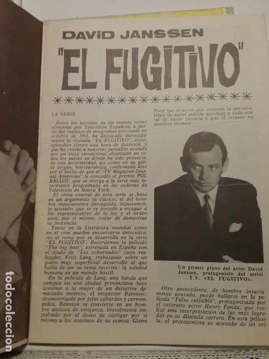 Cine: Librito Figuras de la T.V. El Fugitivo biografia ilustrada - Foto 3 - 197474227