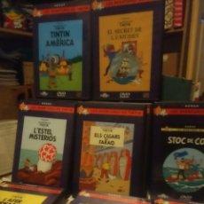 Cine: HERGE - LES AVENTURES DE TINTIN - 16 DVD - EN CATALA. Lote 198248161