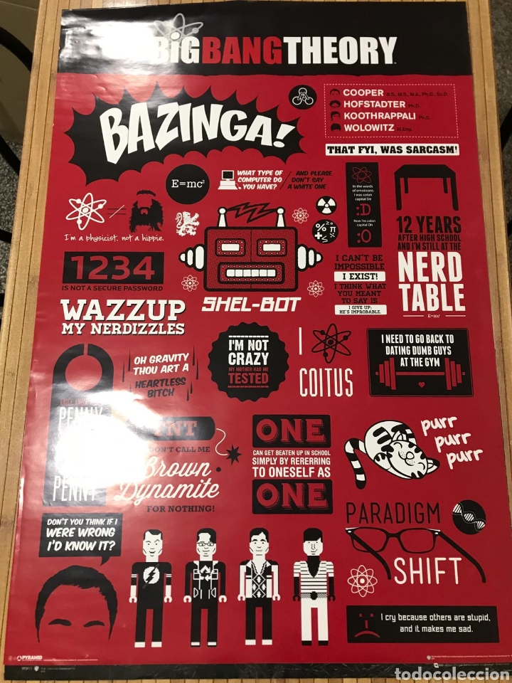 POSTER 90X60 BIG BANG THEORY (Cine - Posters y Carteles - Series TV)