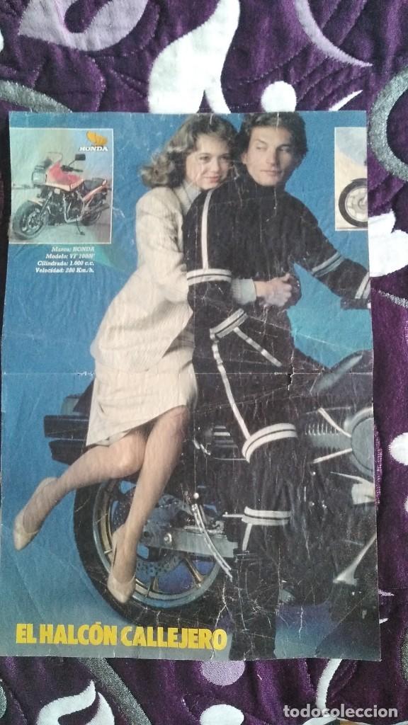 POSTER EL HALCÓN CALLEJERO REVISTA TELE INDISCRETA SERIE TV AÑO 1986 REX SMITH MOTO FANTÁSTICA (Cine - Posters y Carteles - Series TV)