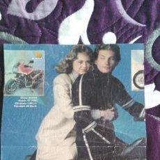 Cine: POSTER EL HALCÓN CALLEJERO REVISTA TELE INDISCRETA SERIE TV AÑO 1986 REX SMITH MOTO FANTÁSTICA. Lote 206184481