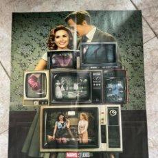 Cinema: POSTER DOBLE SERIES TV EL CID Y WANDAVISION BRUJA ESCARLATA Y VISION MARVEL 40,5 X 57. Lote 243363325