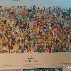 Cine: POSTER THE SIMPSONS ORIGINAL 2001 FOX MADE IN UK. Lote 264800314