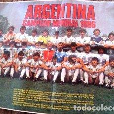 Cine: ANTIGUO POSTER FUTBOL ARGENTINA CAMPEON MUNDIAL 1986 53X42CM. Lote 269658963