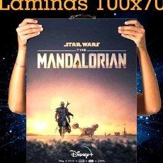 Cine: POSTERS THE MANDALORIAN STAR WARS SERIE BABY YODA 100X70 CM. Lote 269671908