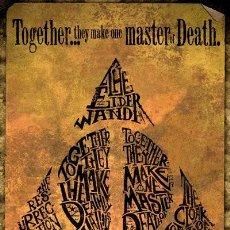 Cine: POSTER HARRY POTTER - ORO DE LAS RELIQUIAS DE LA MUERTE (DEATHLY HALLOWS GOLD) (POSTER 61 X 91,5). Lote 275548928
