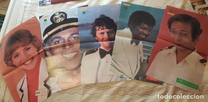 LOTE 5 PÓSTERS SERIE VACACIONES EN EL MAR - REVISTA DIEZ MINUTOS - JULIE MCCOY - BERNIE KOPELL (Cine - Posters y Carteles - Series TV)