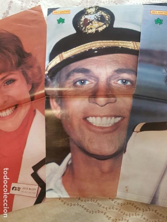 Cine: LOTE 5 PÓSTERS SERIE VACACIONES EN EL MAR - REVISTA DIEZ MINUTOS - JULIE McCOY - BERNIE KOPELL - Foto 3 - 278195613