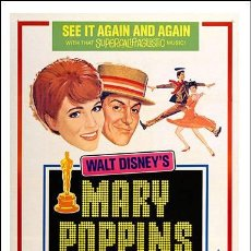 Cine: MARY POPPINS (POSTER 32X45). Lote 278264723