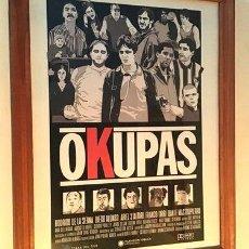 Cine: POSTER LAMINA DISENO EXCLUSIVO SERIE OKUPAS. Lote 278913508