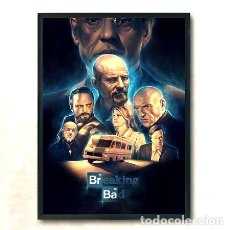 Cine: CUADRO BREAKING BAD CREW. Lote 278914708