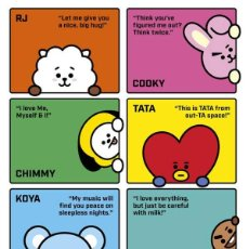 Cine: POSTER BT21 - PERSONAJES COMPLETOS (POSTER 61 X 91,5). Lote 287324528